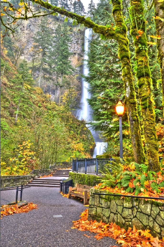 Multnomah Falls マルトノマの滝