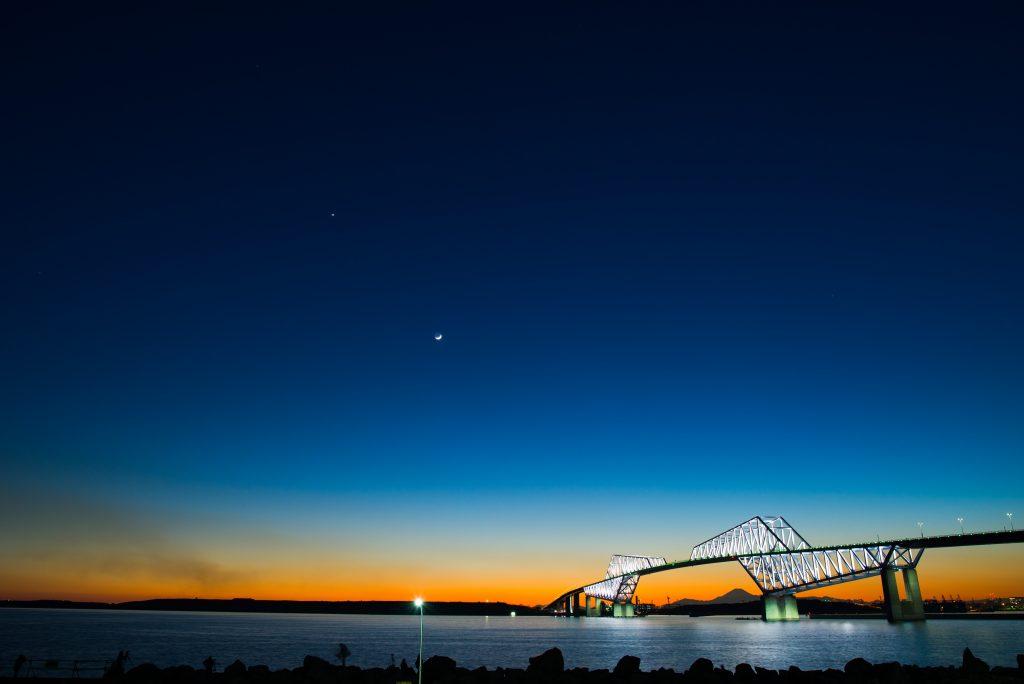 24mm f/5.6 2s ISO100 (D610 Sigma 24-35mm f/2) ゲートブリッジ 夕景夜景 マジックアワー
