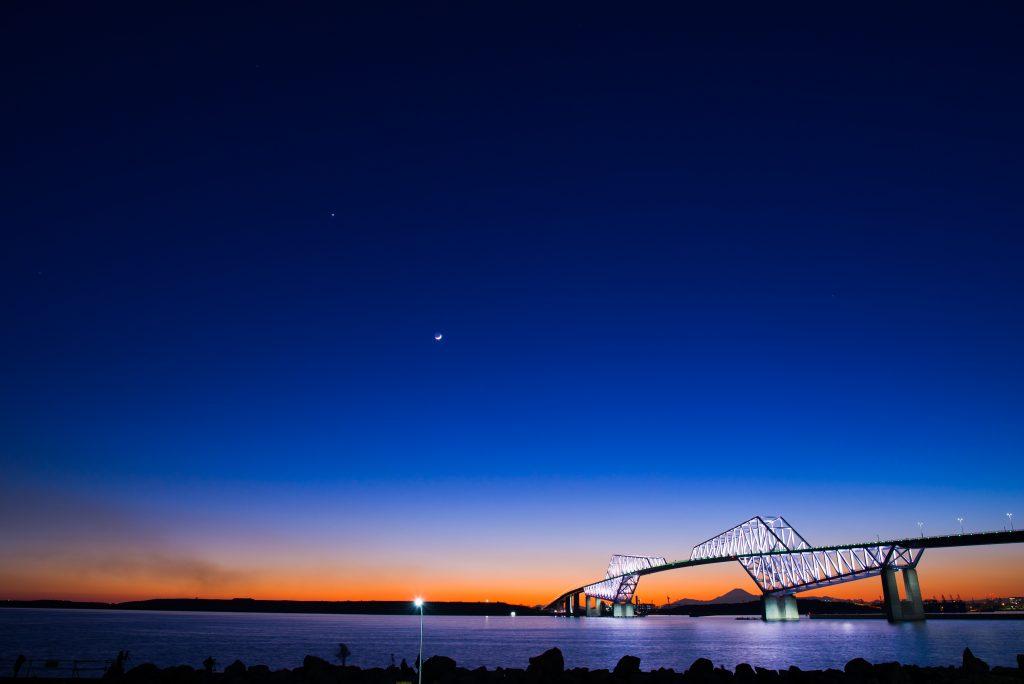 24mm f/5 2s ISO100 (D610 Sigma 24-35mm f/2) ゲートブリッジ 夕景夜景 マジックアワー