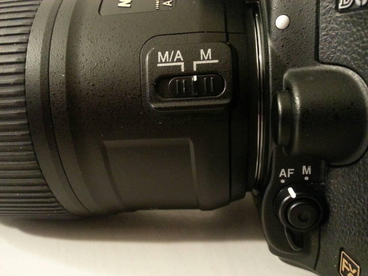 レンズのマニュアル設定