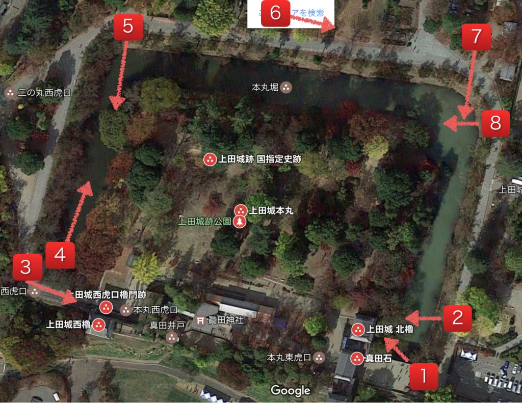 上田城跡公園外観
