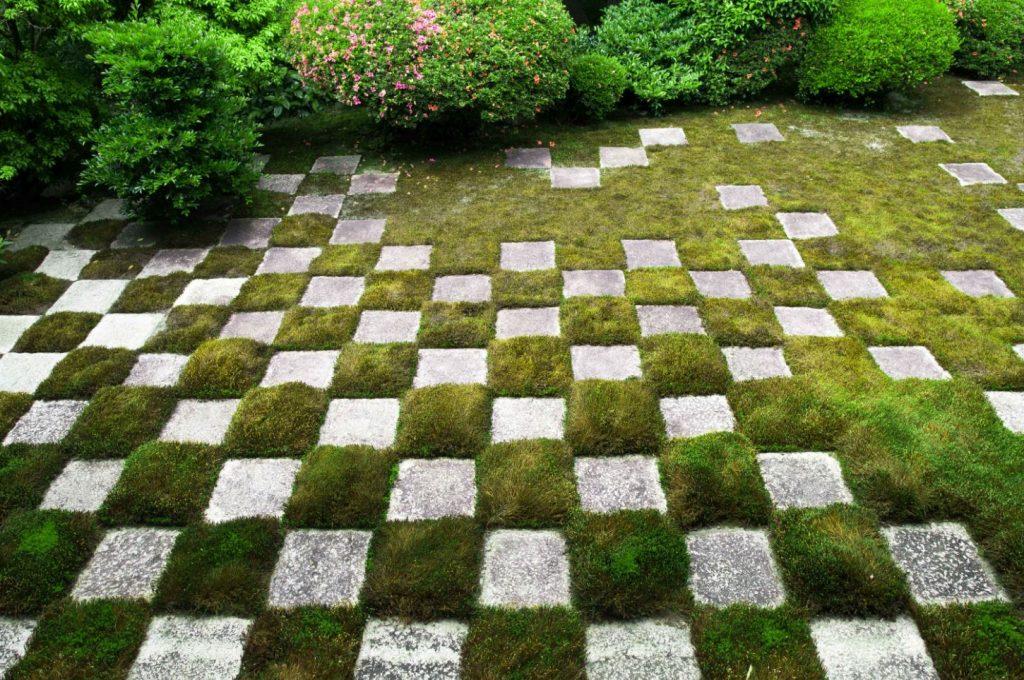 モダンな庭園