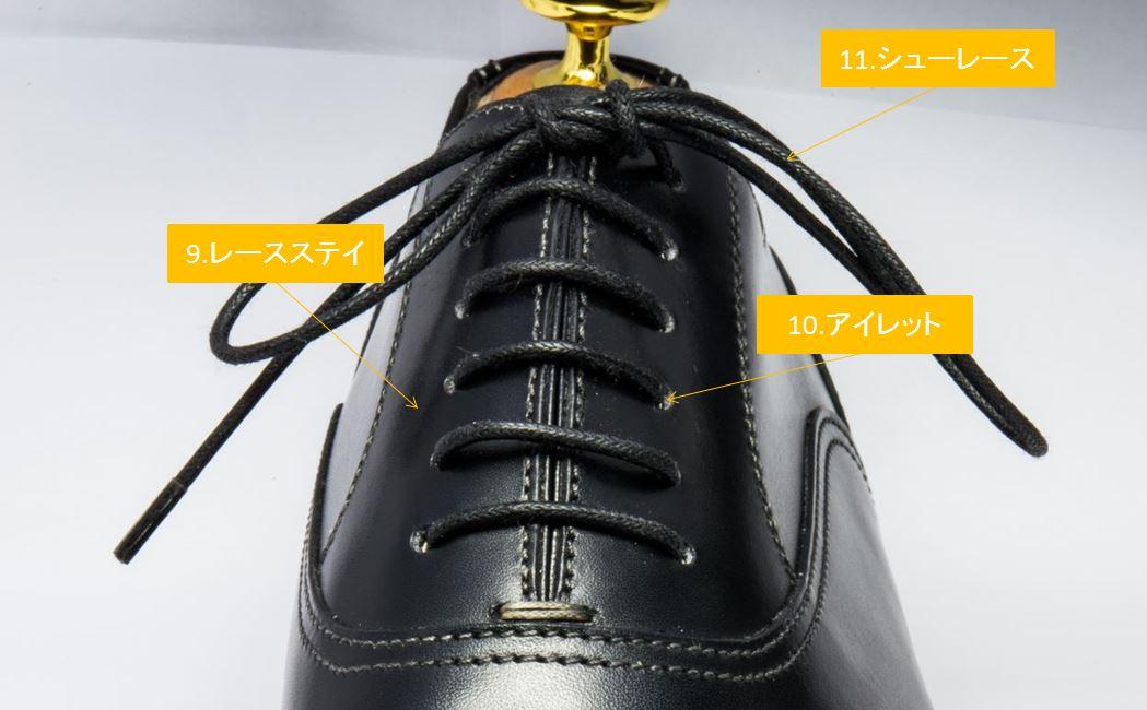 靴ひも部分の名称